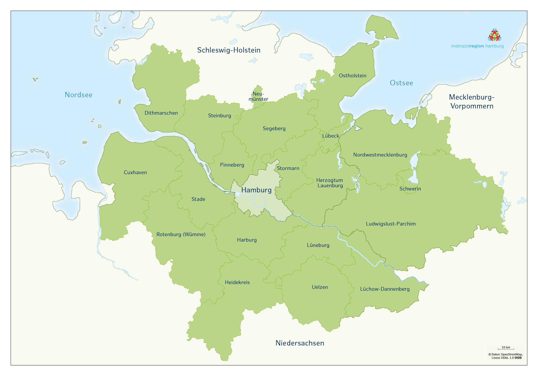 Karte Ubersichtskarte Bild Darstellung Der Metropolregion