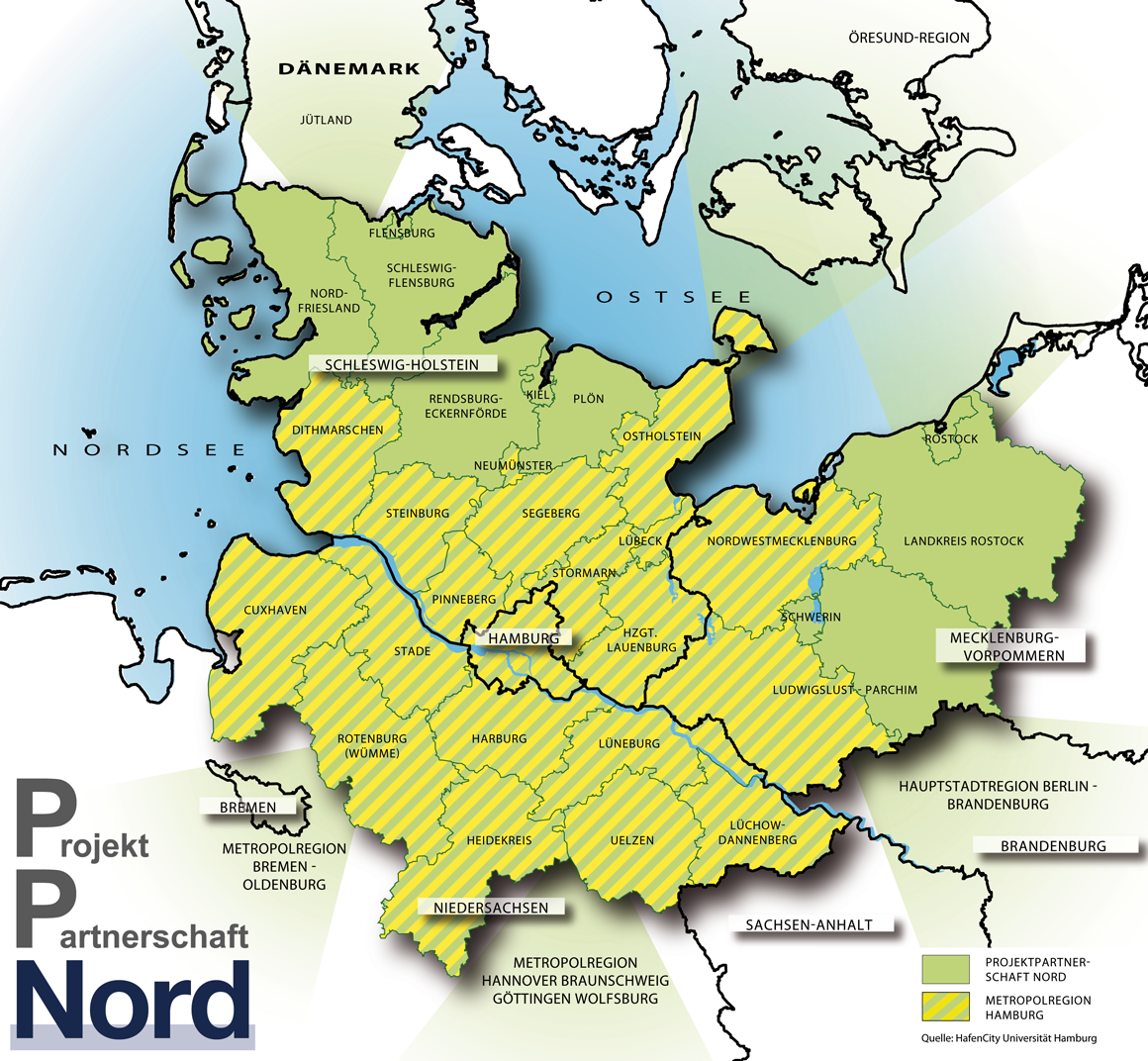 Norddeutschland Karte.Metropolregion Hamburg Projektpartnerschaft Nord Metropolregion